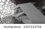 abstract white and black... | Shutterstock . vector #1337213756