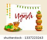 illustration of happy ugadi  ...   Shutterstock .eps vector #1337223263