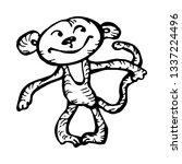 monkey character. hand drawn... | Shutterstock .eps vector #1337224496