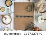 culinary notebook for writing... | Shutterstock . vector #1337227940
