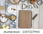 culinary notebook for writing... | Shutterstock . vector #1337227943