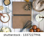 culinary notebook for writing... | Shutterstock . vector #1337227946