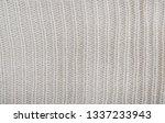 grey wool texture knit fabric... | Shutterstock . vector #1337233943