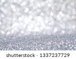 silver glitter abstract... | Shutterstock . vector #1337237729