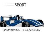 illustration of racing blue car ... | Shutterstock .eps vector #1337243189