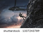 military helicopters and forces ... | Shutterstock . vector #1337243789