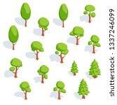set of isometric trees.... | Shutterstock .eps vector #1337246099