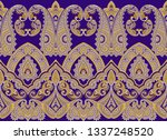 traditional seamless indian... | Shutterstock . vector #1337248520