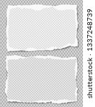 set of white squared ripped... | Shutterstock .eps vector #1337248739