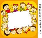 kids holding a sign. | Shutterstock . vector #133725134