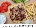 shawarma  gyros pita.... | Shutterstock . vector #1337265629