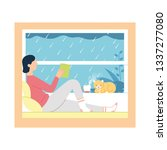 vector illustration of a girl... | Shutterstock .eps vector #1337277080