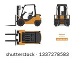 Forklift In Realistic Style....