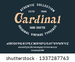 cardinal. handmade vintage... | Shutterstock .eps vector #1337287763