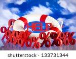 crisis  help in finance | Shutterstock . vector #133731344