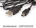 plugs usb standard a and mini...   Shutterstock . vector #1337315153