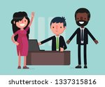 business people vector... | Shutterstock .eps vector #1337315816