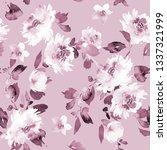 seamless summer pattern with... | Shutterstock . vector #1337321999