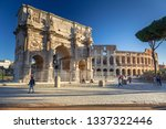 rome  italy   january 11  2019  ...   Shutterstock . vector #1337322446