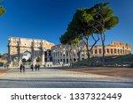 rome  italy   january 11  2019  ...   Shutterstock . vector #1337322449