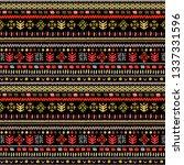 tribal art  ethnic seamless... | Shutterstock .eps vector #1337331596