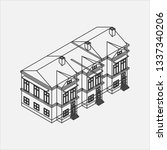 city building and house vector | Shutterstock .eps vector #1337340206