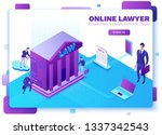 online lawyer service isometric ...