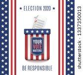 american election 2020... | Shutterstock .eps vector #1337350013
