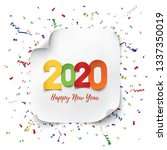 happy new year 2020 greeting... | Shutterstock .eps vector #1337350019