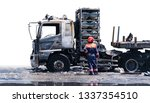 burned truck  car after burnt...   Shutterstock . vector #1337354510