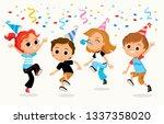 children party kids fooling...   Shutterstock .eps vector #1337358020