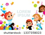 children party kids fooling... | Shutterstock .eps vector #1337358023