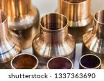 copper pipes of different... | Shutterstock . vector #1337363690