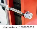 large size bolts and nuts for... | Shutterstock . vector #1337363693