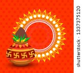 illustration of hindu new year ... | Shutterstock .eps vector #1337375120