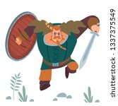 viking. big strong muscular... | Shutterstock .eps vector #1337375549
