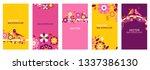 vector set of abstract creative ...   Shutterstock .eps vector #1337386130