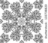 Lace vector design. Ornamental lace pattern, circle background with many details.