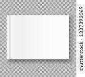 vector realistic empty album or ... | Shutterstock .eps vector #1337393069
