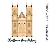 westmister abbey london famous... | Shutterstock .eps vector #1337400083