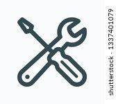 repair tools isolated vector... | Shutterstock .eps vector #1337401079