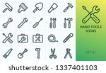 hand tools icons set. set of...   Shutterstock .eps vector #1337401103