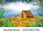 camping in the jungle on the... | Shutterstock .eps vector #1337401736