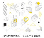 abstract geometric background.... | Shutterstock .eps vector #1337411006
