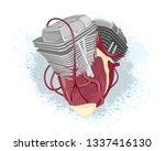 vector illustration of... | Shutterstock .eps vector #1337416130