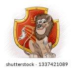 vector illustration of a lion... | Shutterstock .eps vector #1337421089