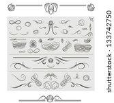 vector set of  calligraphic... | Shutterstock .eps vector #133742750