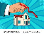 falling down house prices. man... | Shutterstock . vector #1337432153