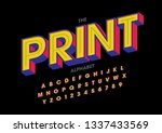 vector of stylized modern font... | Shutterstock .eps vector #1337433569