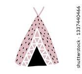 hut of primitive man. vector... | Shutterstock .eps vector #1337440466